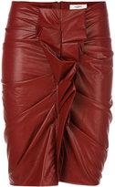 Etoile Isabel Marant gathered detail fitted skirt - women - Cotton/Polyurethane/Viscose - 34