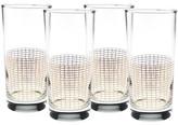 Culver 22K Gold Streamlined Glass - Set of 4