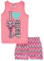 "1000% Cute Little Girls' ""I Heart Sleep"" 2-Piece Pajamas"