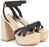 Gianvito Rossi Kea leather-trimmed platform sandals