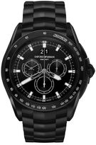 Emporio Armani Swiss Made Chronograph Watch With Steel Strap