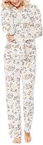 Hanes Ivory & Gray Woodland Creatures Button-Up Pajama Set