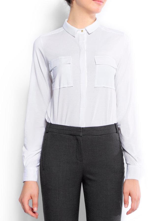 MANGO Gold button shirt