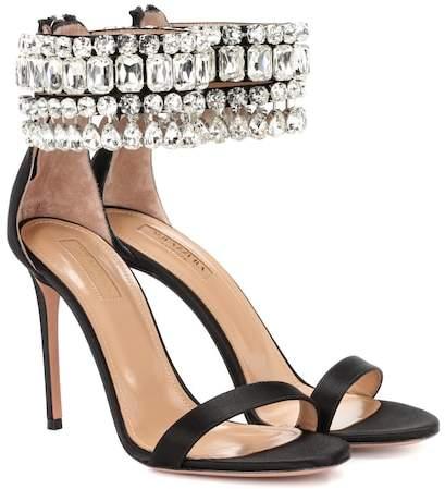 Aquazzura Gem Palace 105 satin sandals