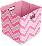 Bed Bath & Beyond GiggleDots Rose Canvas Folding Storage Bin in Zig Zag