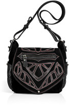 Isabel Marant Black Suede/Leather Ballwin Bag with Applique