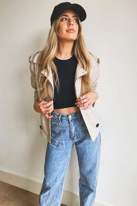 boohoo Short Double Breasted Trench