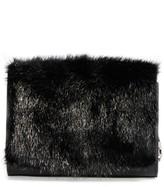 Michael Kors Yasmin Genuine Mink Fur Clutch - Black