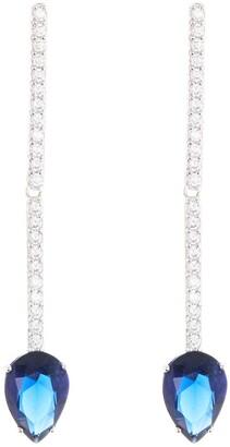 Nadri Sapphire Linear Drop Earrings