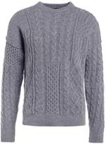 Roberto Collina Cable Jumper Grey Melange