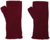Undercover ribbed fingerless gloves