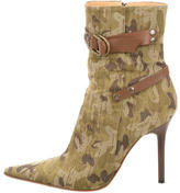 Casadei Camouflage Ankle Boots