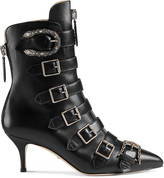 Gucci Leather buckle ankle boot