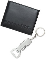 Perry Ellis Men's Leather Bifold Wallet & Keychain