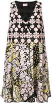 Giamba printed V-neck dress