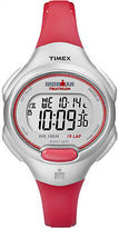 Timex Women's Ironman 10 Lap Mid | Silver-Tone Case Orange Resin Strap | T5K741