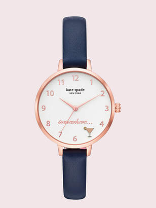 Kate Spade Metro Navy Leather Watch