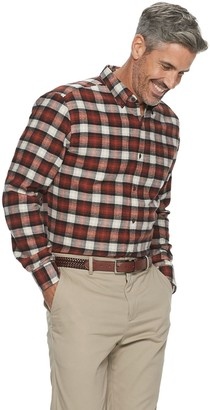 Croft & Barrow Men's Extra-Soft Flannel Button-Down Shirt