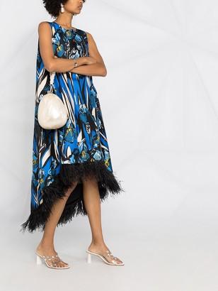 La DoubleJ La Scala feather-detail dress