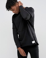 Criminal Damage Sweatshirt With Layered Sleeves