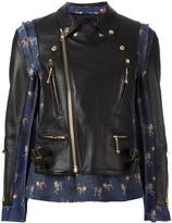 Undercover panelled leather jacket