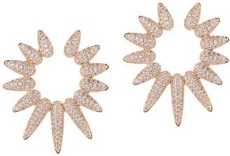 Eye Candy La The Luxe Spike 18K Goldplated Crystal Stud Earrings