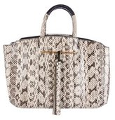 Brian Atwood Gloria East/West Snakeskin Tote