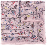 Alexander McQueen Heart Chain scarf - women - Silk - One Size