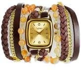 Winky Designs Natural Carnelian Wrap Watch