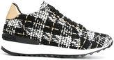 Casadei tweed sneakers - women - Leather/Wool/rubber - 37