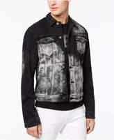 GUESS Men's Rex Studded Destroyed Denim Jacket