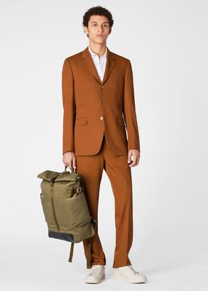 Paul Smith Men's Khaki Canvas Roll-Top Backpack
