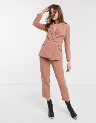 Topshop tailored pants co-ord in rose