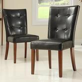 Home Decorators Collection Polyurethane Side Chair in Dark Brown (Set of 2)