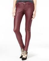 Celebrity Pink Juniors' Coated Ponte-Knit Skinny Jeans