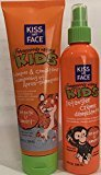 Kiss My Face Orange Scent Obsessively Natural Kids Shampoo & Condition and Detangler Creme Set - 8 Oz. Each