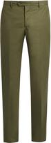 Etro Stretch-cotton panama trousers