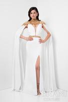 Terani Evening - Ethereal Lace Applique Bib Sheath Gown 1713M3468