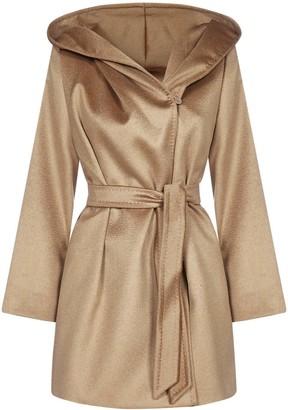 Max Mara Gap Hooded Belted Coat