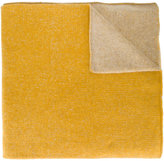 The Elder Statesman Yellow two tone oversized scarf