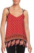 MinkPink Mixed Print Strappy Top