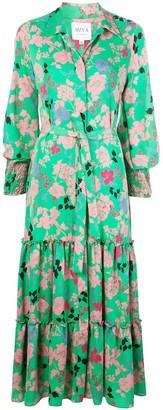 MISA Esmee Peony-print shirt dress
