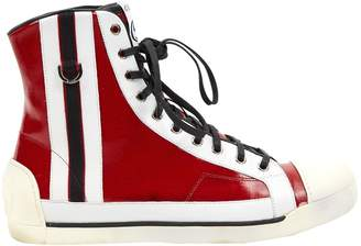 Gucci Red Cloth Trainers