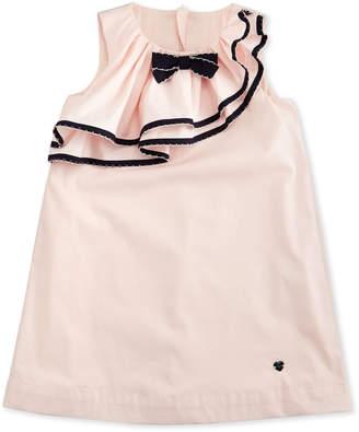 Armani Junior Sleeveless Ruffle-Trim Shift Dress, Orchid, Size 2-8