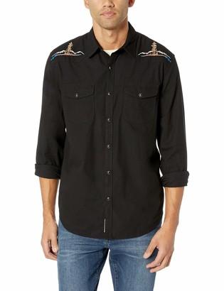 Lucky Brand Men's Long Sleeve Santa FE Western Button UP Shirt