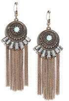 LuLu*s Spirit Ritual Gold and Turquoise Earrings