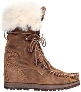 EL VAQUERO 70mm Leia Lapin Fur & Suede Boots