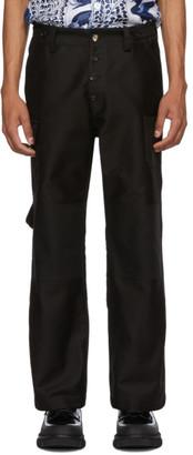 Marni Black Moleskin Cargo Pants