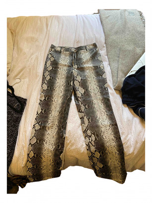 I.AM.GIA Black Polyester Trousers