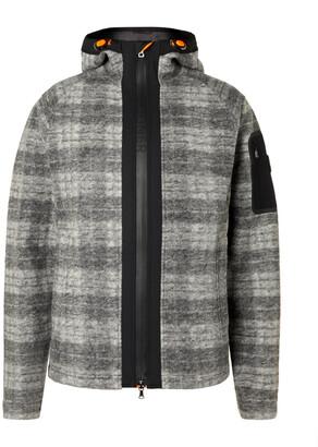 Bogner Atreus Logo-Embroidered Checked Wool-Blend Flannel Hooded Ski Jacket